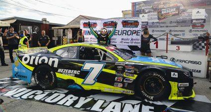 Doubek Collects Croatian NASCAR Trophy