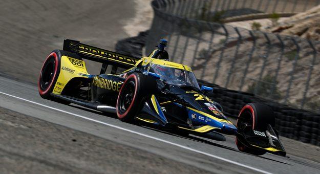 Colton Herta claimed the NTT IndyCar Series pole at WeatherTech Raceway Laguna Seca. (IndyCar Photo)
