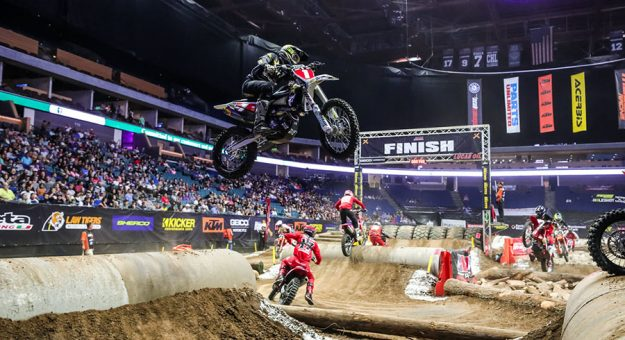 Colton Haaker in action Saturday during the AMA EnduroCross opener. (Jack Johnson Photo)