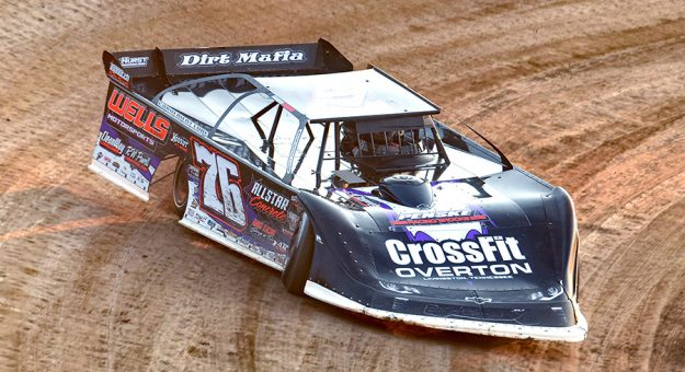 Brandon Overton, shown here at Eldora Speedway, won $50,000 during the Texas Dirt Nationals on Saturday. (Paul Arch Photo)