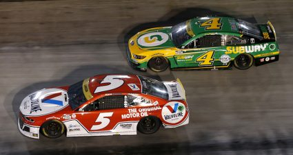 Larson Conquers Bristol As Tempers Flare