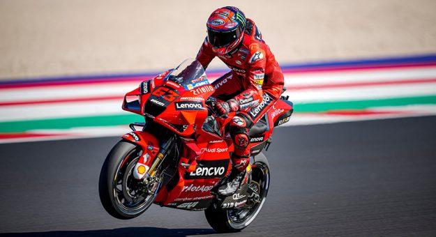 Francesco Bagnaia won Sunday's MotoGP event in Italy. (Ducati Photo)