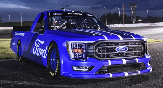 Ford will debut a reimagined F-150 in the NASCAR Camping World Truck Series in 2022.
