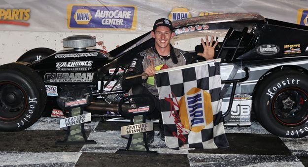 Stephen Kopcik won his fourth-straight SK Modified feature Friday at Stafford Motor Speedway.