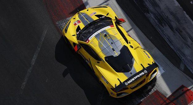 Jordan Taylor gave Corvette Racing another pole in Long Beach Friday. (IMSA Photo)