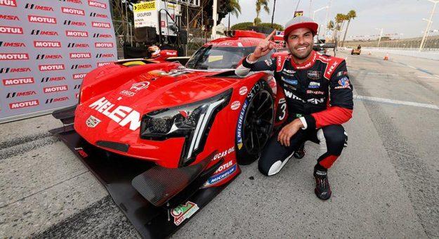 Felipe Nasr claimed the IMSA WeatherTech SportsCar Championship pole in Long Beach, Calif. (IMSA Photo)