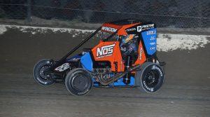 Chris Windom in action Saturday at Eldora Speedway. (Neil Cavanah Photo)