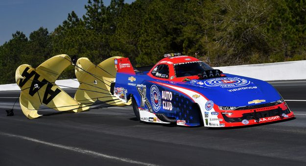 Robert Hight, shown here earlier this year, was the top Funny Car qualifier at the Texas NHRA FallNationals. (NHRA photo)