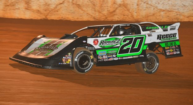 Jimmy Owens earned $20,000 Tuesday night at 411 Motor Speedway. (Michael Moats Photo)