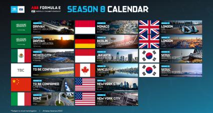 Updated Calendar & New Formula E Rules Revealed